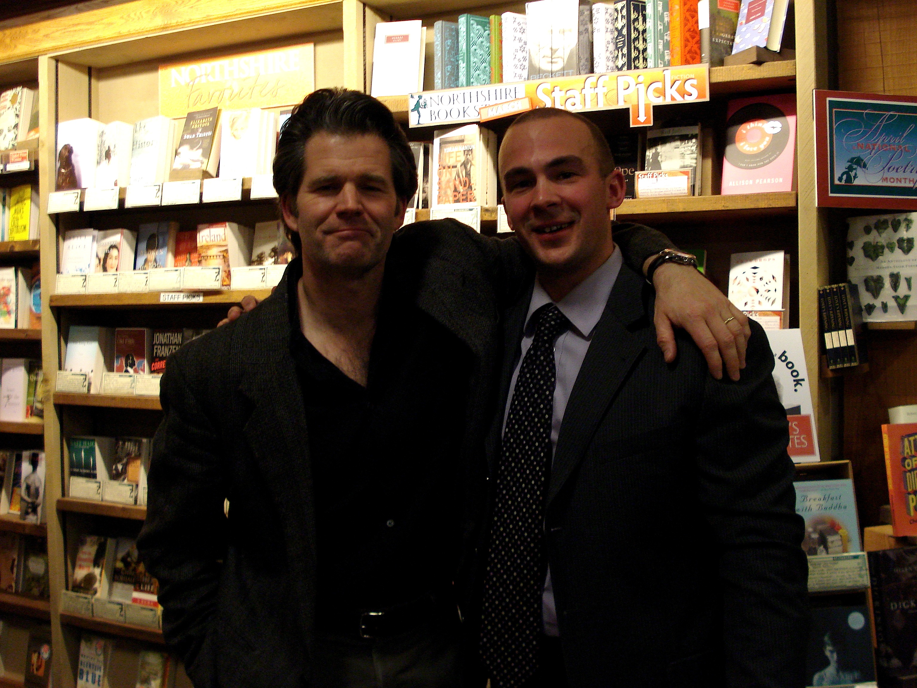 Andre and me in 2011 at Northshire Bookstore in Manchester Ctr, Vermont.